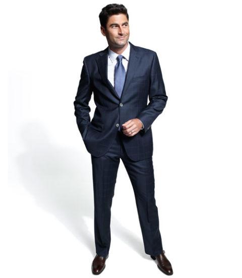 how to wear windowpane suit
