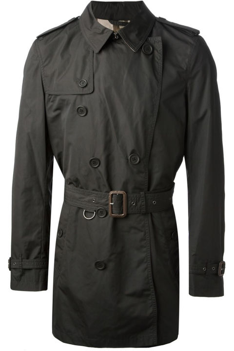The classic Burberry trench, redefined in black, with a tailored contemporary cut and a cropped silhouette, is something that will flatter any body type and complement every single thing in your wardrobe. It's also got a treated polyester-polyamide shell ensures, which ensures this thing will never leak.<br /><br /><br /><br /> Mid-length trench coat ($763.27) by Burberry Brit, farfetch.com<br /><br /><br /><br />