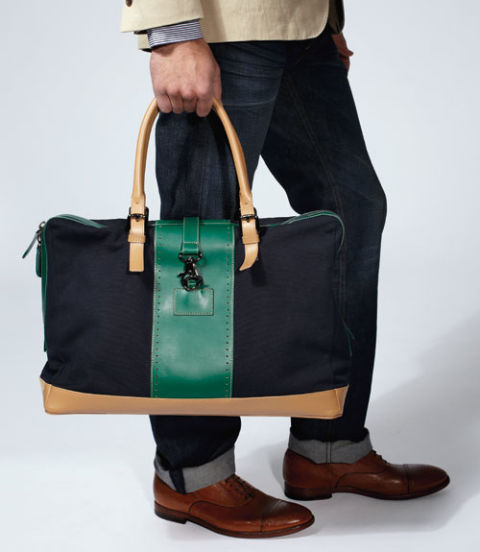 Best for: Two days, two nights. Slightly larger than a duffel, this canvas-and-leather weekend bag is tough enough to withstand a beating and built to hold just enough cargo for a few days away. Plus, it has a removable pouch that can double as a Dopp kit.